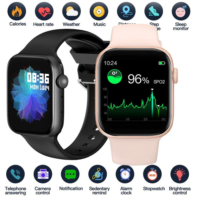 2021 Smart Watch Men Smartwatch Women Bluetooth Call Watch Waterproof Fitness Tracker Music Control