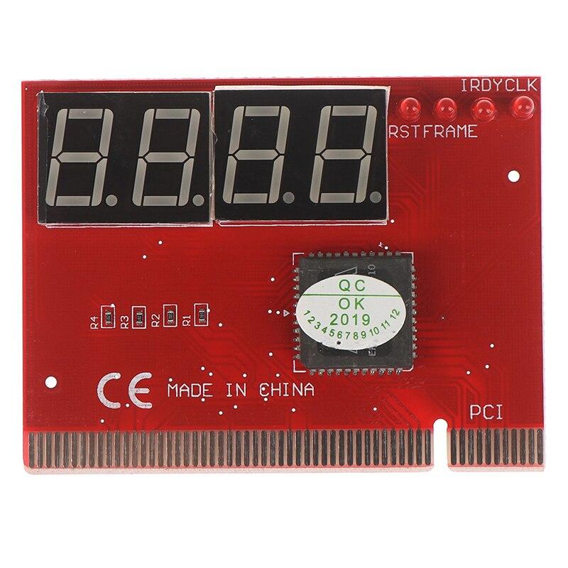 1 Uds placa base de computadora portátil Mini PCI-E LPC de solución de problemas de diagnóstico tarjeta LED 4 dígitos de diagnóstico Analizador de PC de tarjeta postal