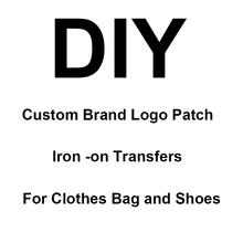 Fer sur les patchs sur les patchs de LOGO de marque de vêtements pour les vêtements sac à main chaussures transferts de chaleur PVC Silicone autocollant accessoire de vêtement bricolage