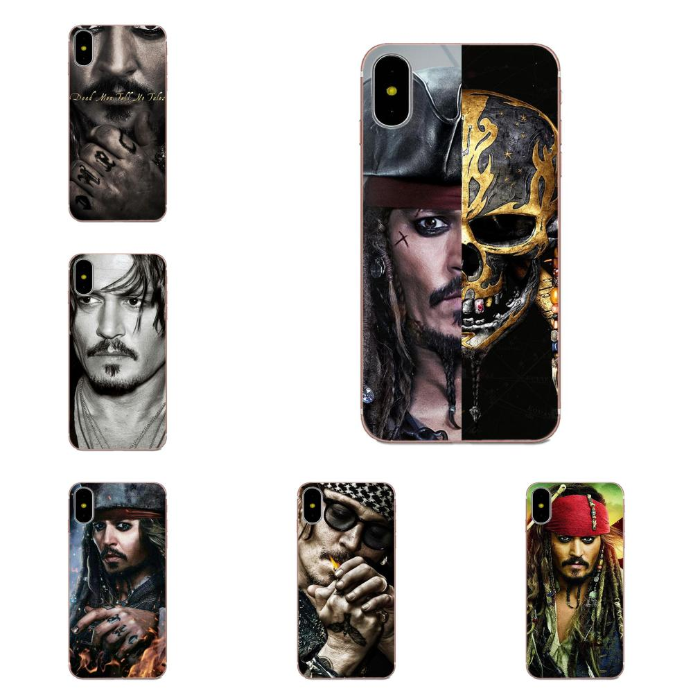 Pirates Of The Caribbean Johnny Depp TPU For Huawei Honor 5C 5X 6A 6X 7 7A 7X 8 8A 8S 8X 9 10 30 Lite Pro Y6 II Y7 Y9 Prime 2019