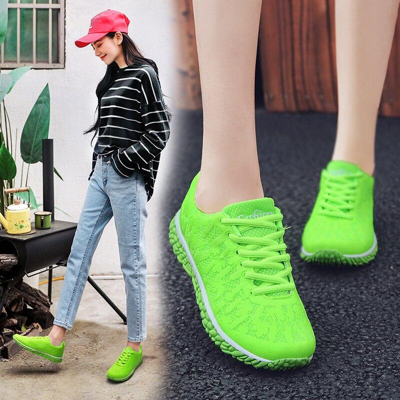 Tênis feminino tenis feminino tênis cesta femme laço-up mulher sapatos senhora ao ar livre jogging treinamento de fitness esporte sapatos 1