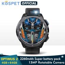 KOSPET Optimus 2 4G Smart Watch Men 4GB 64GB 13MP Camera flash 2260 mAh 1.6