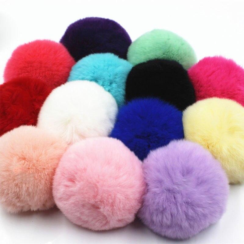 8cm Fluffy Plush Balls Handmade Soft  Faux Fur Pompom DIY Kids Toys Wedding Decor Pom Poms Felt Ball Sewing Craft Supplies Gifts