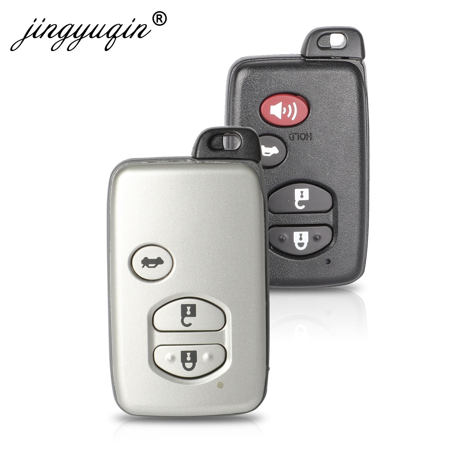 Bilchave 3/4 botones remoto de silicona Smart Key funda carcasa para Toyota Land Cruiser Prado 150 Camry Prius corona soporte