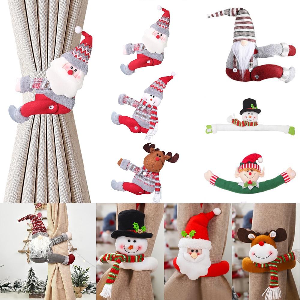 Santa elk natal cortina fivela feliz natal decoração para casa 2020 natal presente natal natal natal navidad noel feliz ano novo 2021
