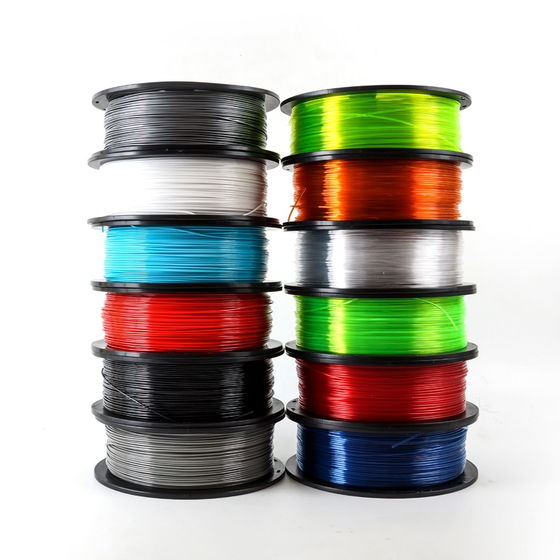 خيوط بلاستيكية للطابعة ثلاثية الأبعاد ، مادة PETG 1.75 مللي متر ، 1 كجم/2.2 رطل ، ألياف الكربون