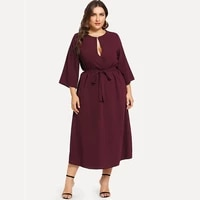 sale 2021 fashion women plus size dress long sleeve hollow out bandage elegant women party dress boho lady dresses vestidos d30