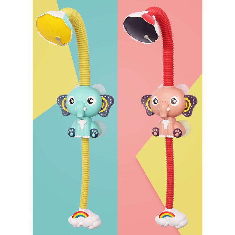 1 pc bonito elefante padrão torneira do bebê jogo de água chuveiro cabeça elétrica spray de água brinquedo para crianças banho banho banho brinquedos