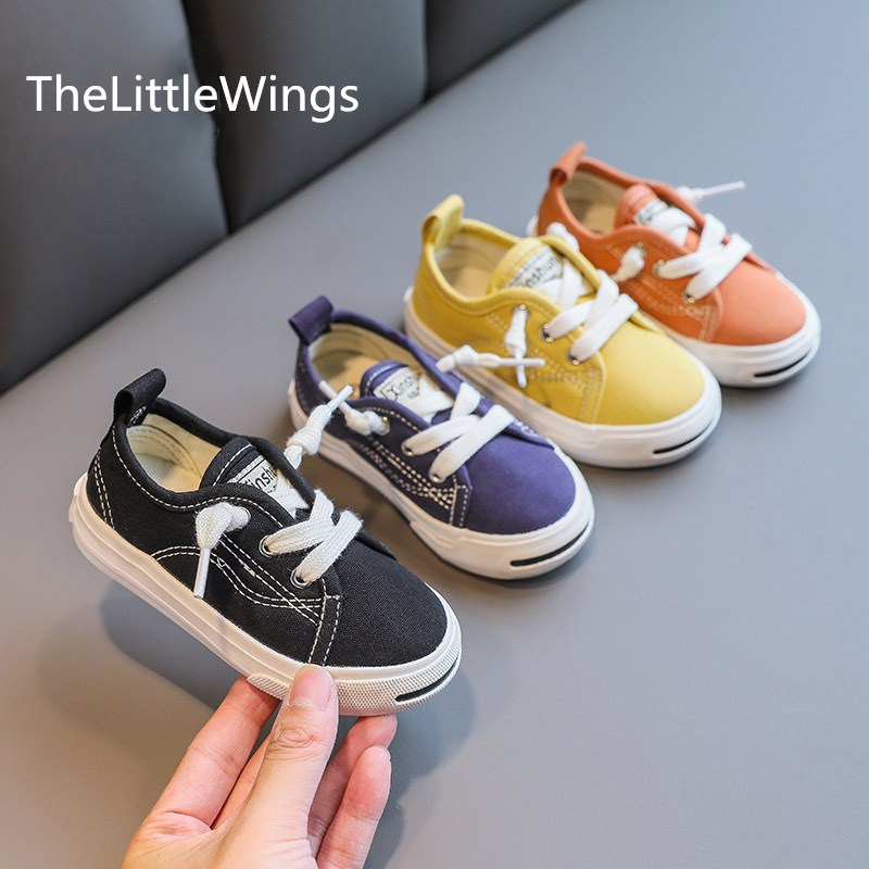 Boys' Flat toddler shoes spring and autumn girls' slackers Children's canvas loafers shoes Super soft and comfortable Cool enlarge