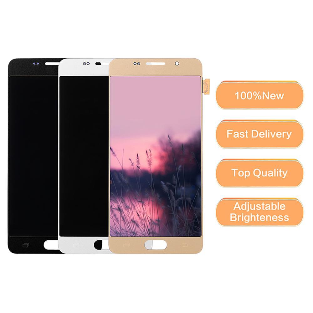 100% probado funcionamiento A510 LCD para Samsung Galaxy A5 2016 A510F LCD A510M SM-A510F pantalla táctil digitalizador piezas de montaje