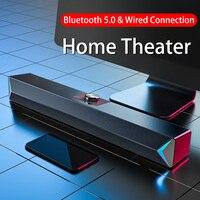 D6 Колонка s TV звуковая панель USB проводной и беспроводной Bluetooth домашний кинотеатр FM-радио объемная звуковая панель для ПК ТВ Колонка для ком...