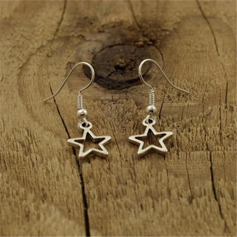 Pendientes de estrella, pendientes de estrella pequeña, pendientes de estrellas colgantes, estrellas, joyería de Mini estrella, pendientes de gota de estrella, regalo de estrella