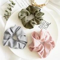 elastic headband korea fashion solid hairbands hair accessories for womengirl hair sports scrunchie ponytail hair scrunchies