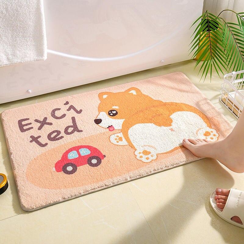 لطيف الحيوانات جولة السجاد البساط الكرتون بساط الأرضية لغرفة المعيشة غرفة نوم غرفة الاطفال عدم الانزلاق تلعب حصيرة حصيرة مستديرة السجاد