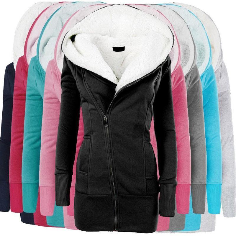 Zogaa mulheres com capuz longo parkas inverno quente algodão velo casaco de veludo feminino zíper sólido magro casacos com capuz mais tamanho outwear