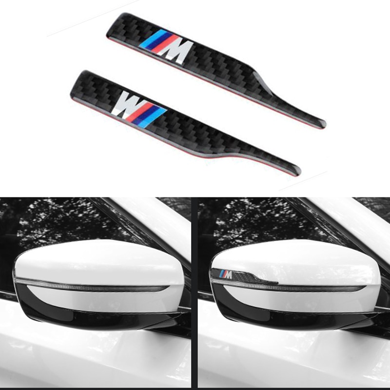 2 шт., зеркало заднего вида из углеродного волокна для BMW M3 M5 M6 X1 X3 X5 E34 E39 E36 E60 E90 E46, автомобильные аксессуары
