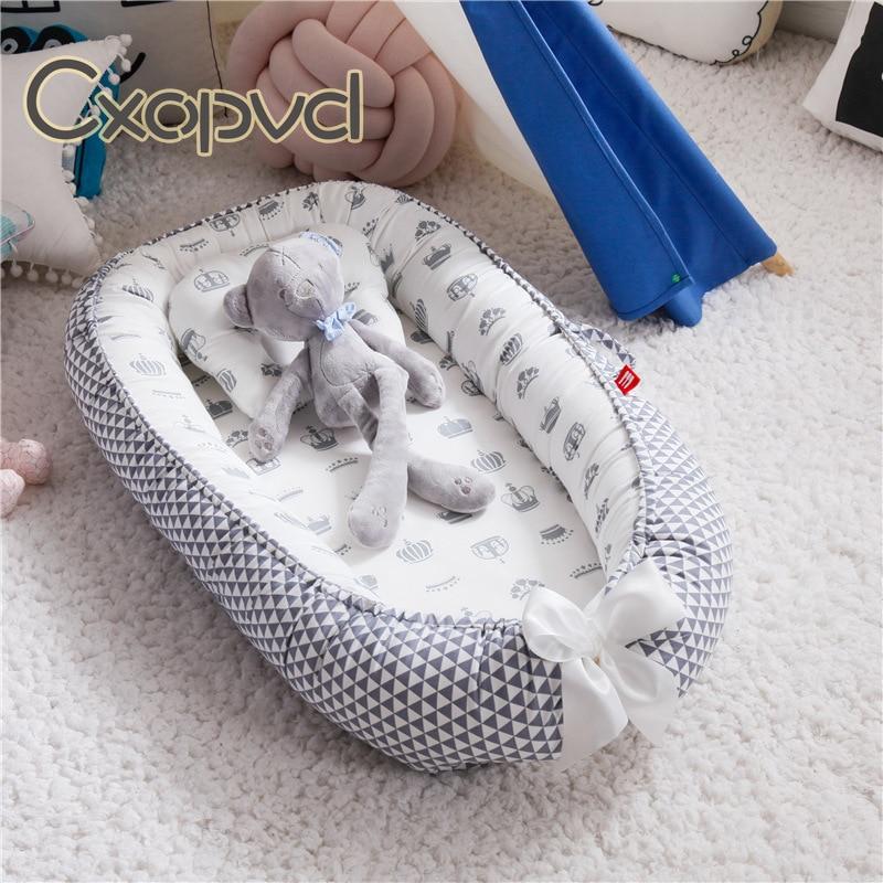 Детский лежак мягкое и дышащее портативное кресло для сна и путешествий отличный партнер для детской кроватки или люльки