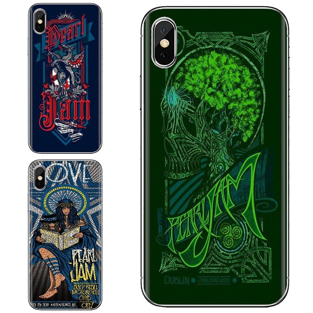 Estuche blando para iPhone 11 Pro 4 4S 5 5S SE 5C 6 6S 7 7 8X10 XR XS Plus Max para iPod Touch Brad Klausen Pearl Jam Pop Rock cartel