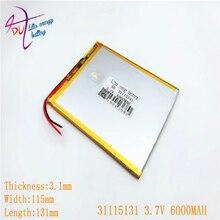 Litre batterie dénergie 3.7V 31115131 batterie double noyau, gemei G6T, VI40 double noyau, A11 Quad-core, tablette pc batterie 6000MAH SGR241