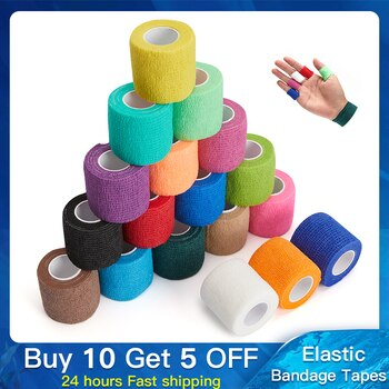 1 piece Elastic Bandage Tapes Athletic Tape Elastoplast Sports Recovery Strapping Gym Waterproof Muscle Relief Finger Ankle