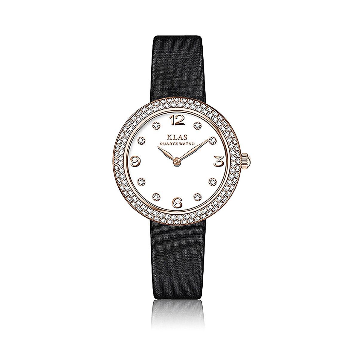 الفولاذ المقاوم للصدأ Disial رائعة فاخرة الأعمال ساعة معصم إعادة إطلاق هدايا نسائية KLAS العلامة التجارية