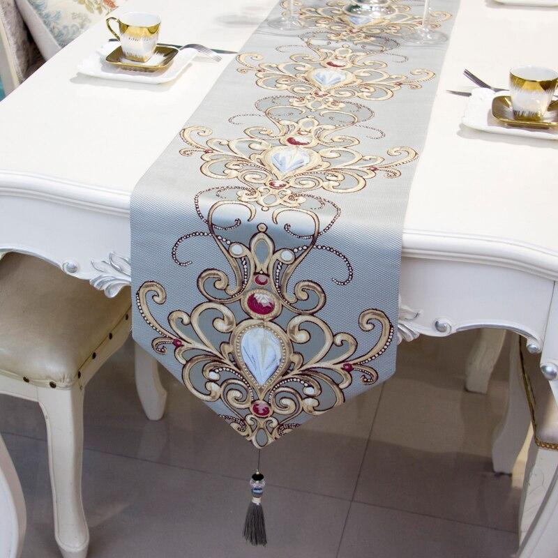 عداء طاولة هندسي فاخر ، ديكور زفاف ، حديث ، كامينوس ، مفرش طاولة هندسي