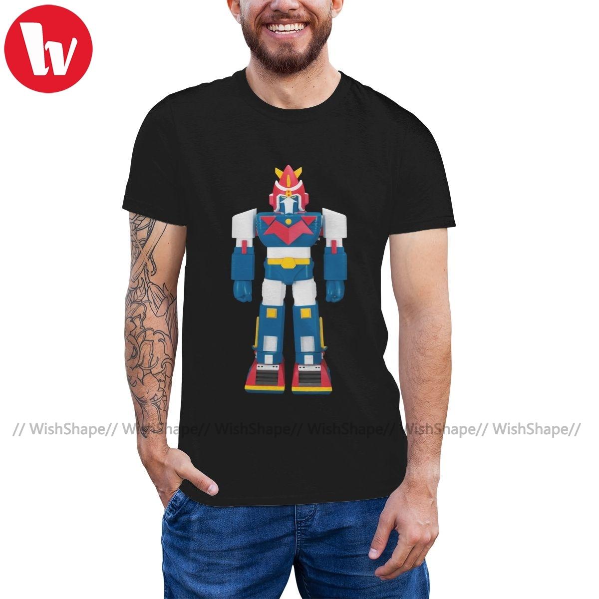 Camiseta Voltron, camiseta gigante Robot, camiseta bonita para hombre, camiseta 100 de algodón con estampado 5x de playa, camiseta de manga corta
