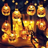 Декоративная Светодиодный светильник гирлянда на Хэллоуин, домашний уличный праздвечерние чный шнурок с призрачная летучая мышь в виде ты...