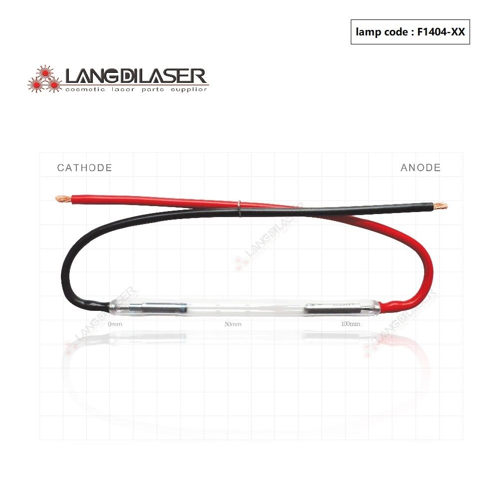 Lámpara HR 50*7 * 115F-wire (pedido de 4 piezas), lámpara de luz plusada intensa, lámpara F1404, Lámpara IPL para láser Kes