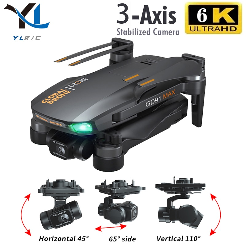 GD91 MAX drone 6k gps 5g wifi 3 axis gimbal camera brushless motor TF card rc distance 1.2km rc Quad