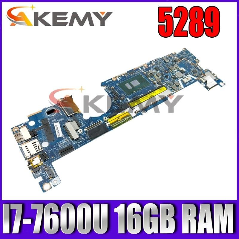 لأجهزة الكمبيوتر المحمول Dell Latitude 5289 اللوحة الأم 7DCRR 07DCRR CN-07DCRR LA-E111P ث/i7-7600U وحدة المعالجة المركزية 16GB RAM 100% اختبارها