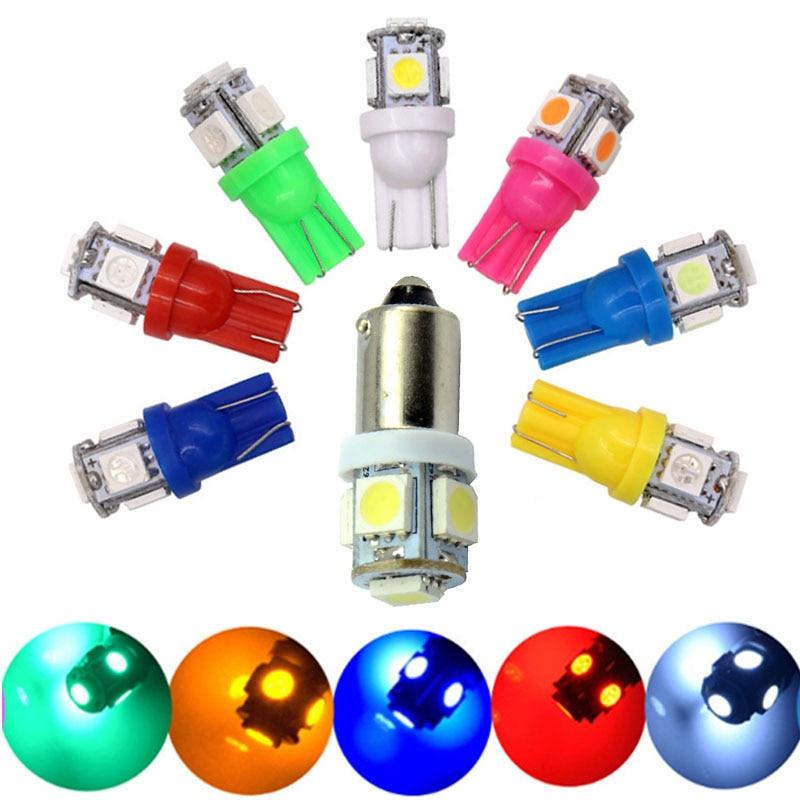 1 juego 10 Uds BA9S T4W T10 W5W #555 DC 6V 6,3 V LED Pinball Game Machine bombilla de luz 5SMD 5050 amarillo verde blanco rojo azul DC6V