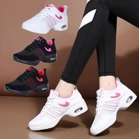 2021 dance shoes soft outsole sports feature breath sneakers for woman practice shoes modern dance jazz dancing shoes