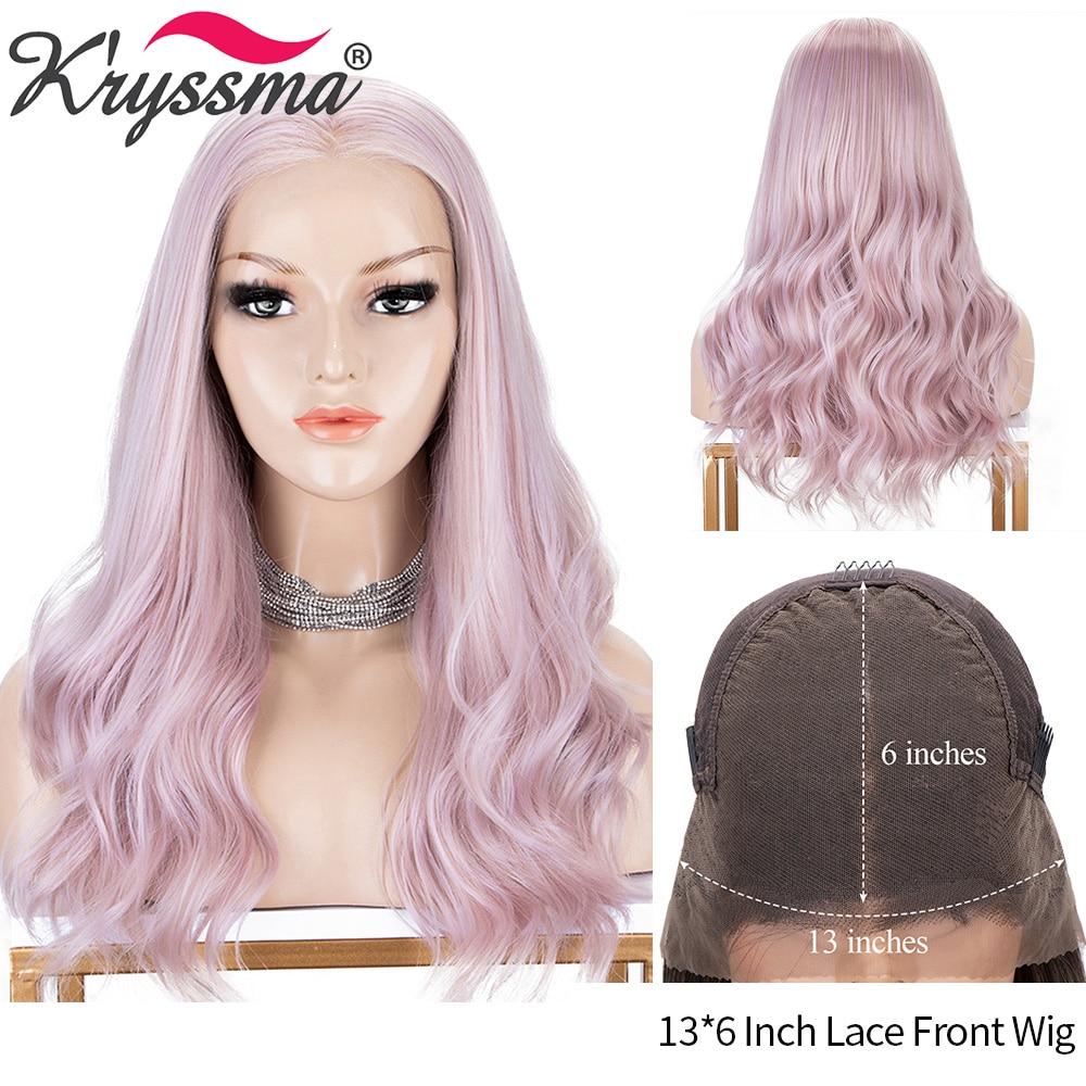 Женский парик для косплея Kryssma розовые парики 13 х6 синтетические волнистые на