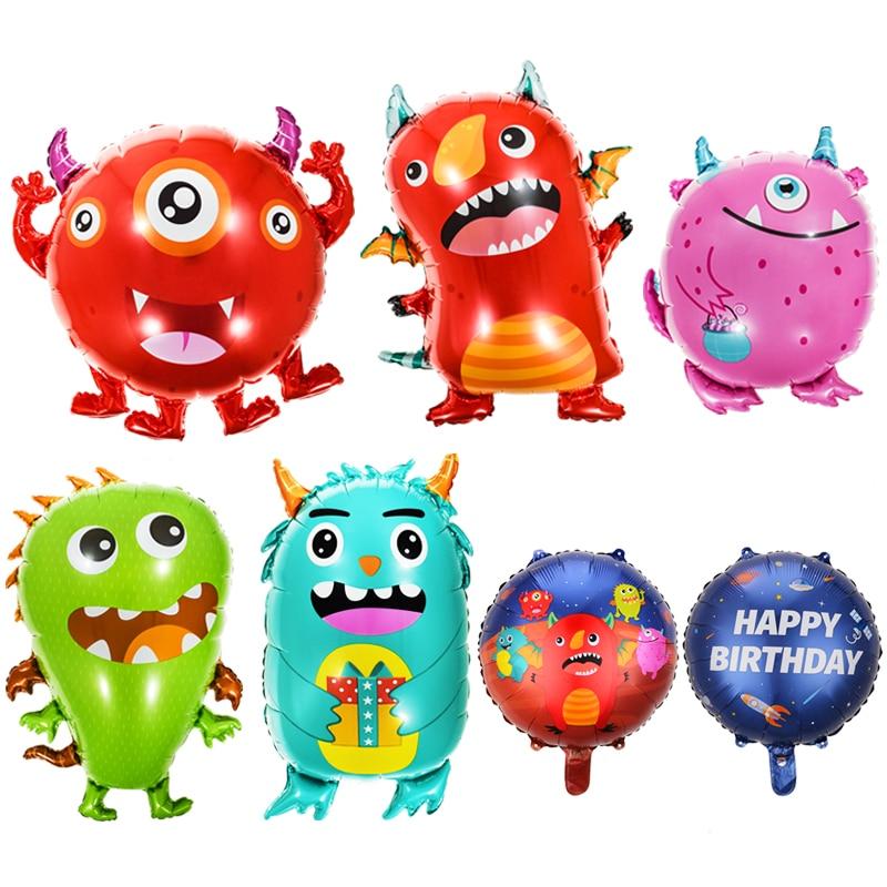 6 шт./компл. воздушные шары в виде монстра, воздушные шары в виде ужасов, украшения на день рождения, гелиевые воздушные шары