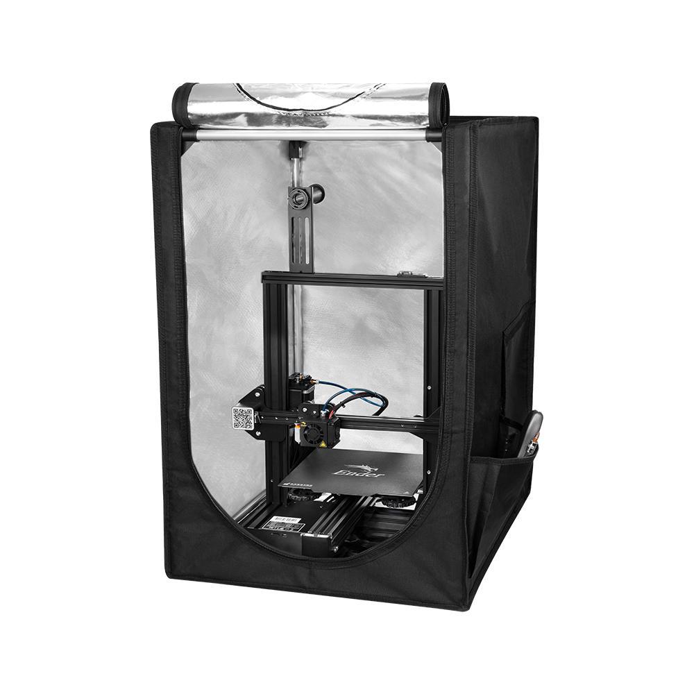 Pequeña carcasa extraíble de papel de aluminio de aislamiento cubierta ignífugo para Creality 3D CR-10 Ender-3 Ender-5 3D piezas de la impresora