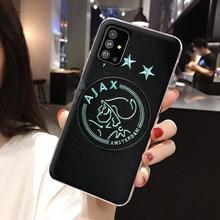 Ajax Team Hard Phone Case for Galaxy A51 A71 A81 A91 S10 S20 Ultra Plus Note 10 Lite