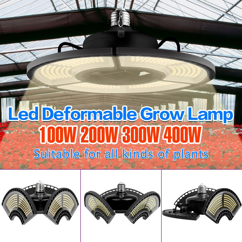 e27 led grow light white 100w 200w 300w 400w led plant light bulb 110v e26 led full spectrum growing lamp 220v greenhouse lamp 220V LED Grow Lamp E27 Full Spectrum Plant Light E26 Hydroponic Bulb 100W 200W 300W 400W Fitolampy For Flower Seeds Growth Tent