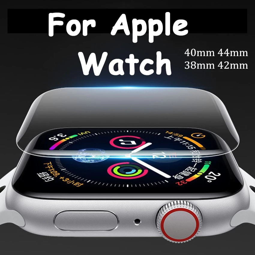 Softs Film For Apple Watch band 44mm 40mm Screen Protector 42mm 38mm 9D HD Scratch Resistant Film Fo