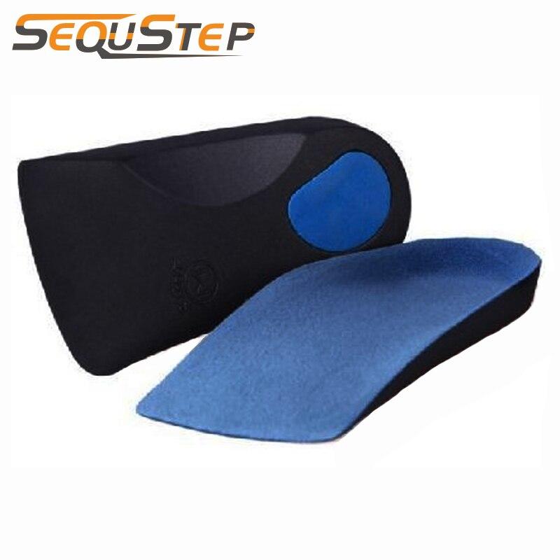 3/4 longitud ortésica, ortopédica plantillas con soporte de arco y Poron tacón amortiguación para los pies planos proteger talón cuidado