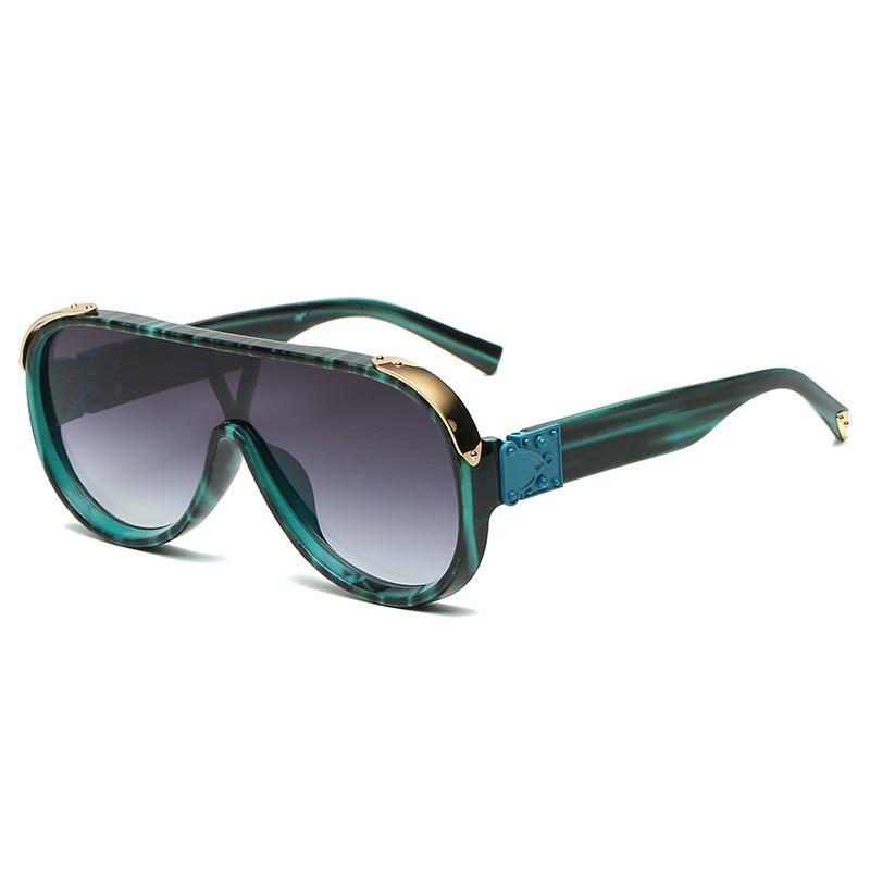 2021 New Fashion Shield Sunglasses For Women Travel Vintage Oversized Sun Glasses Men Uv400 Hip Hop