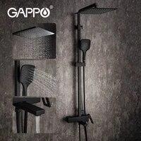 GAPPO melangeur deau chaude et froide  robinet noir de douche salle de bains  robinets en laiton baignoire cascade systeme de douche