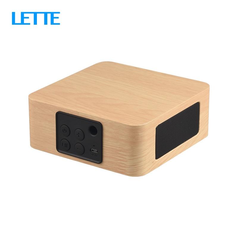 Bluetooth Wooden Bass Speaker Mini Wireless Subwoofer Portable Bass Column For Mobile Phone