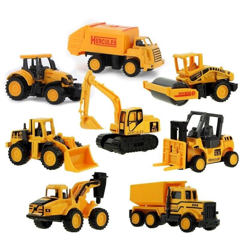 Инженерный мини-автомобиль 8 видов стилей, игрушечный автомобиль-самосвал, модель классического игрушечного автомобиля из сплава, детские игрушки, инженерный автомобиль