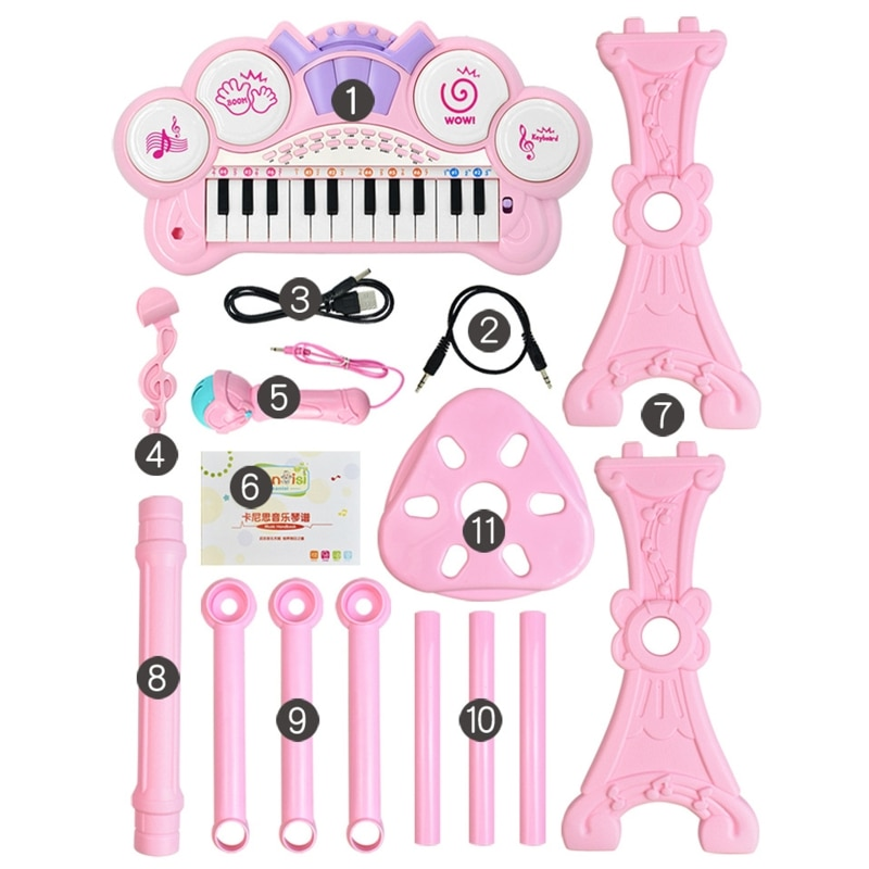 24 teclas de teclado eletronico piano orgao brinquedo criancas instrumento musical