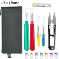 15pcs sewing kits seam ripper stitch unpicker thread cutter with trimming scissors patchwork sewing clips quilting sewing tool
