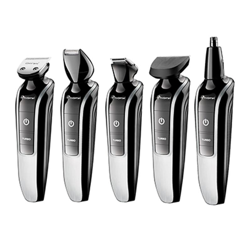 Todo-en-1 lavable maquinilla eléctrica para cortar el pelo afeitadora corporal cabello barba trimer bigote facial Máquina para cortar cabello kit de aseo