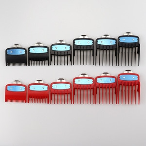 6PCS Limit Comb Guide Cutting Guard Attachment Kit for WAHL Hair Clipper for Barbers