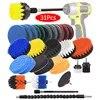 Lot de brosses et tampons de nettoyage multi-usage 31 pièces pour perceuse électrique sans fil pour l'assainissement du carrelage de piscine