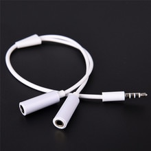 Cable divisor Y de 3,5mm, 1 macho a 2 cables de Audio hembra Dual para auriculares, MP3, MP4, adaptador de enchufe ESTÉREO